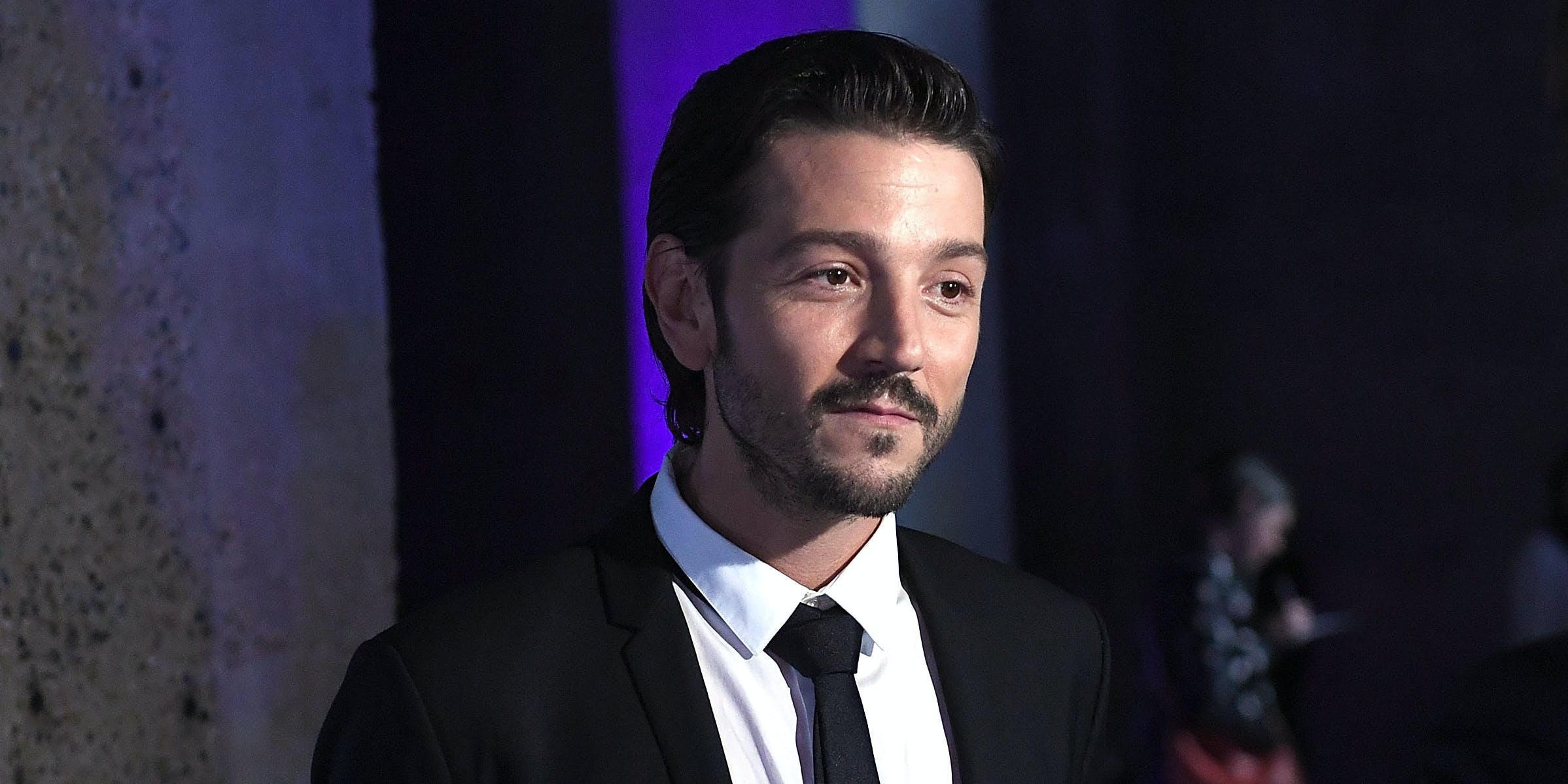 LONDON, ENGLAND - DECEMBER 13:  Diego Luna attends the launch event and reception for Lucasfilm's highly anticipated, first-ever, standalone Star Wars adventure 'Rogue One: A Star Wars Story' at the Tate Modern on December 13, 2016 in London, England.  (Photo by Stuart C. Wilson/Getty Images for Disney)