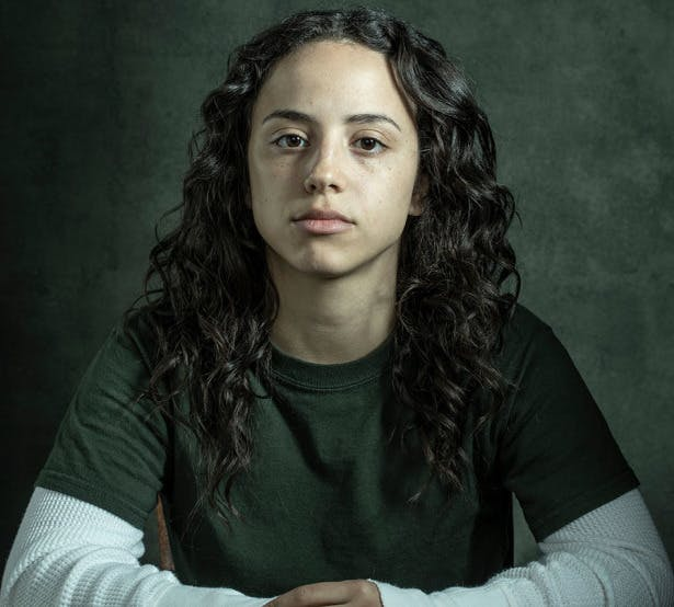 Kiana Madeira as Angel in the web television series 'Sacred Lies'.