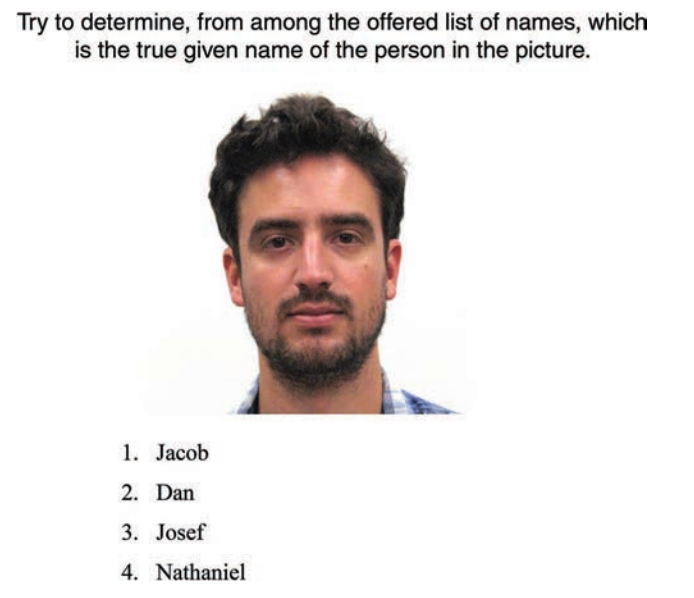 A sample question from the study.
