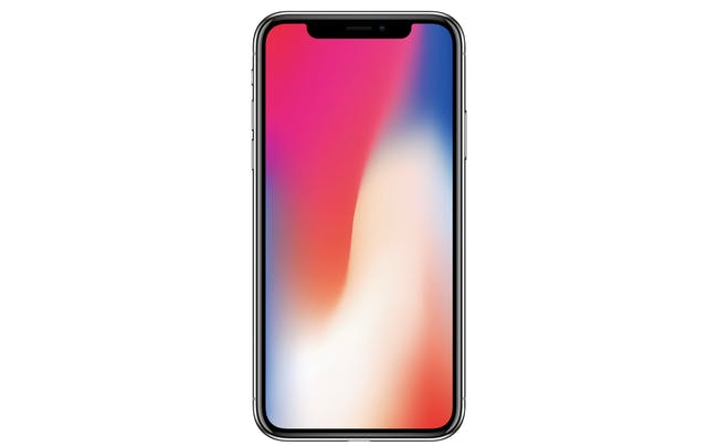 The iPhone X as seen on Apple's website