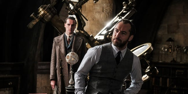 Jude Law's young Dumbledore gets harassed by Ministry Officials in 'The Crimes of Grindelwald'.