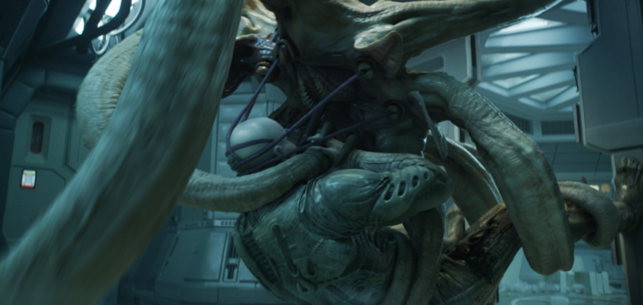 A many-tentacled alien in the 'Alien' prequel 'Prometheus'