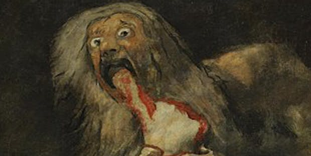 "Francisco de Goya's ""Saturn Devouring His Son."""