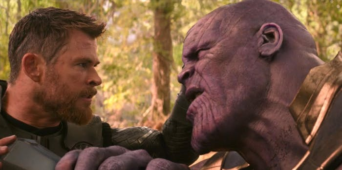 'Avengers: Infinity War' Thor and Thanos