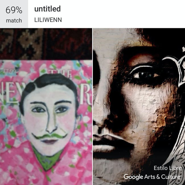 Google Arts & Culture New Yorker match