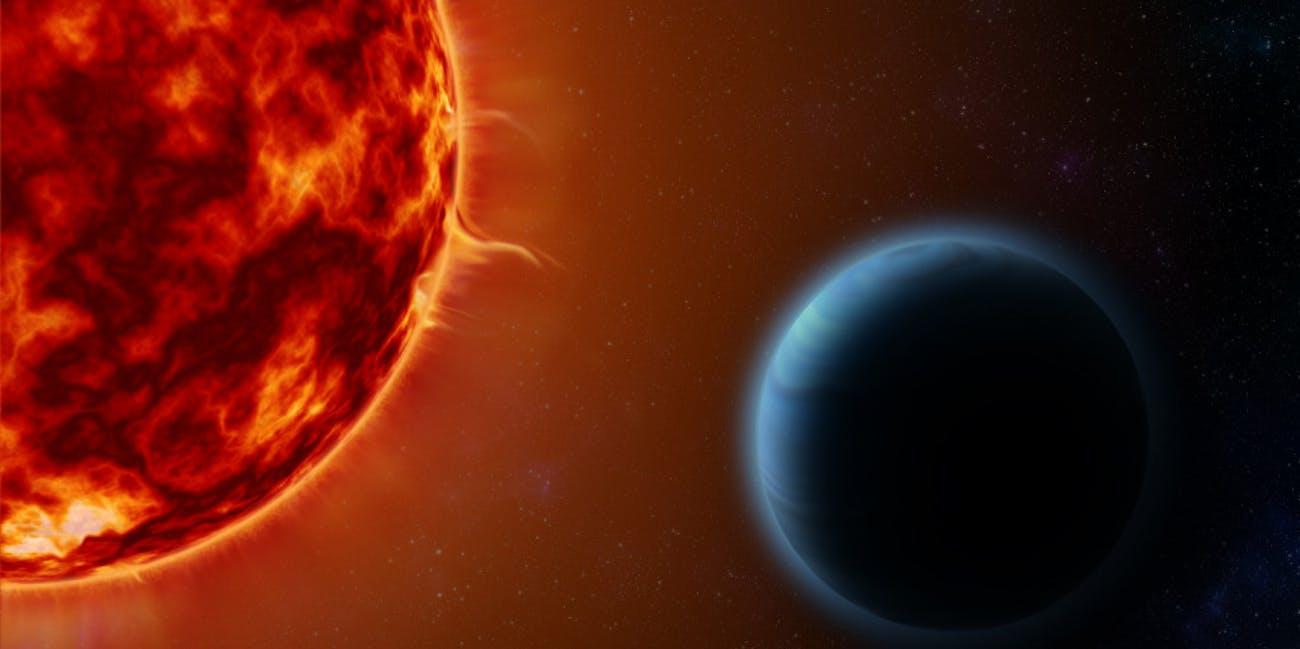 artist's rendering of hot jupiter HD189733b