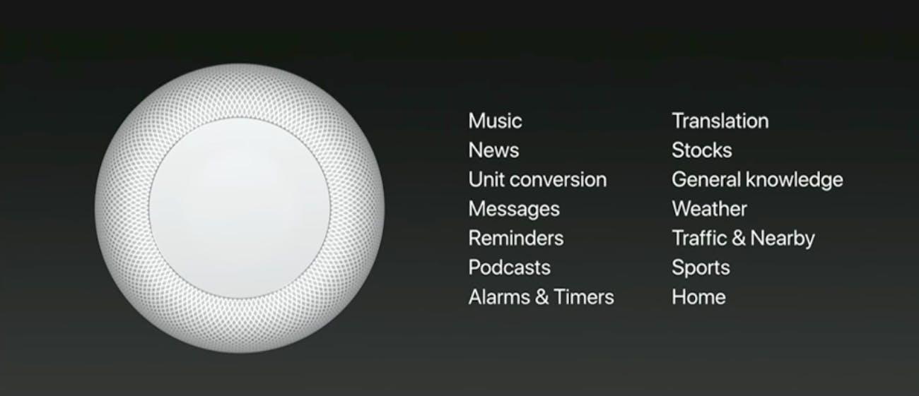 Siri's commands are a bit slim.