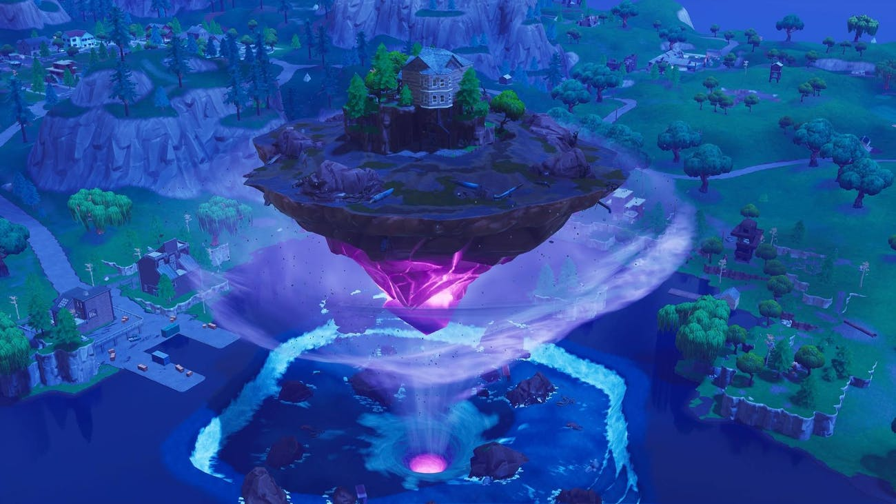 'Fortnite' Loot Lake floating island