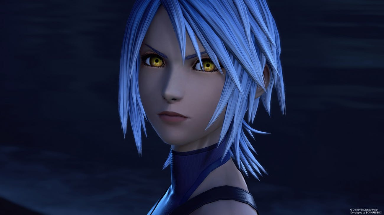 Aqua in 'Kingdom Hearts III' has seemingly been consumed by darkness.