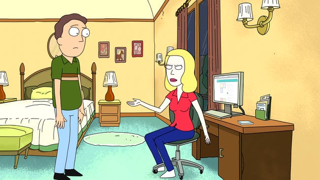 rick and morty beth and jerry