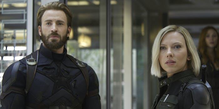 'Avengers: Infinity War' Steve Rogers Black Widow