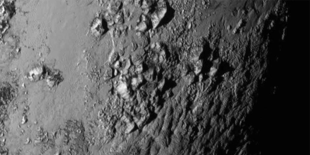 Pluto's equatorial region, captured by New Horizons cameras.