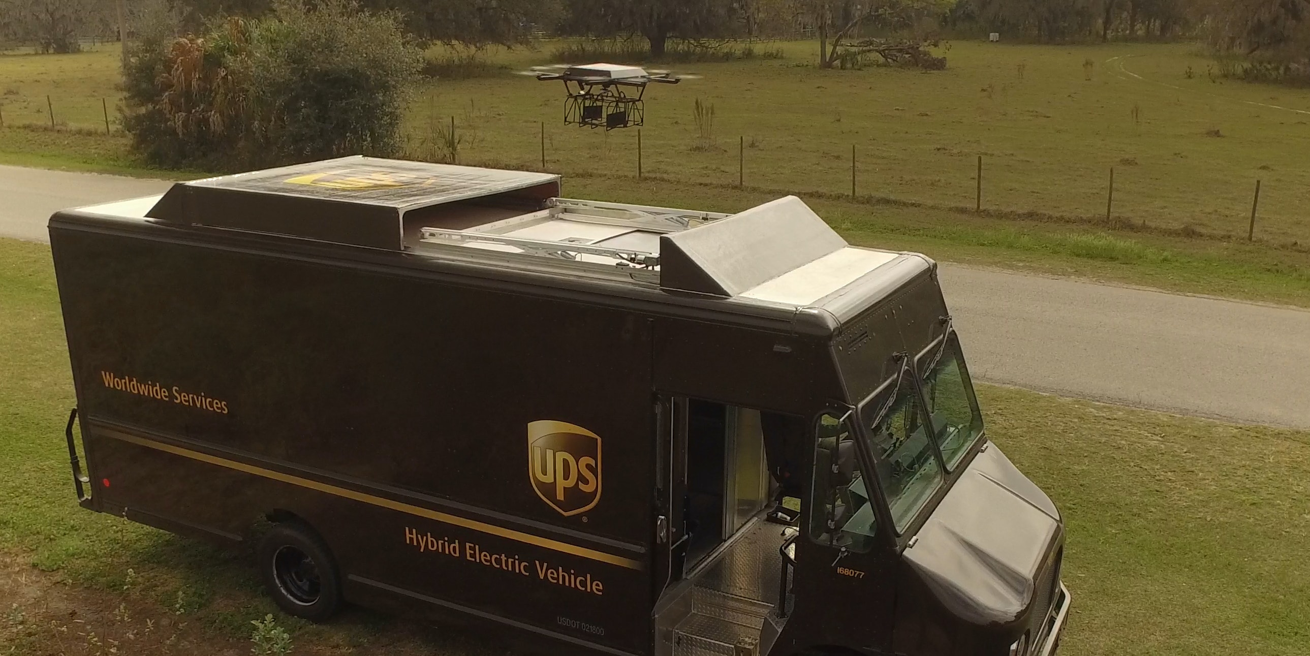 UPS HorseFly octocopter first test flight
