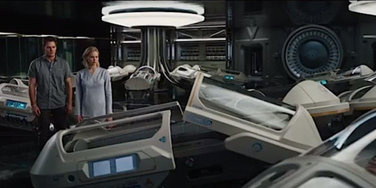 Cryogenic sleep pods in 'Passengers' would require non-toxic, rapid-acting cryoprotectants for vitrification.