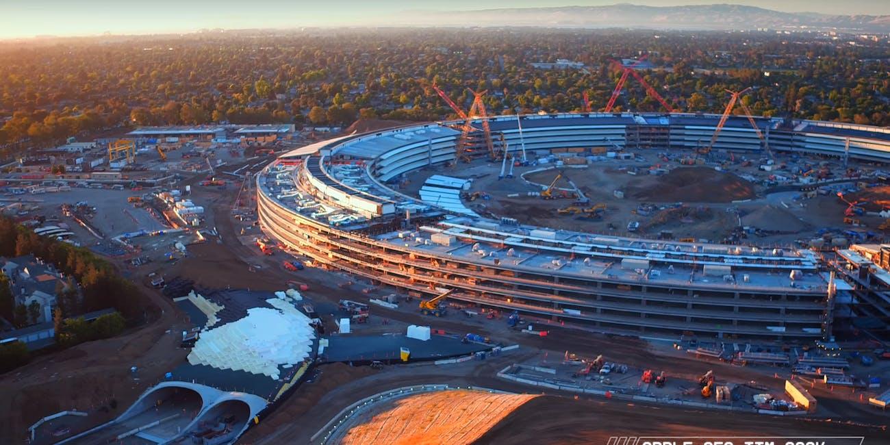 4K Drone Footage Shows Apple Campus Construction Progress