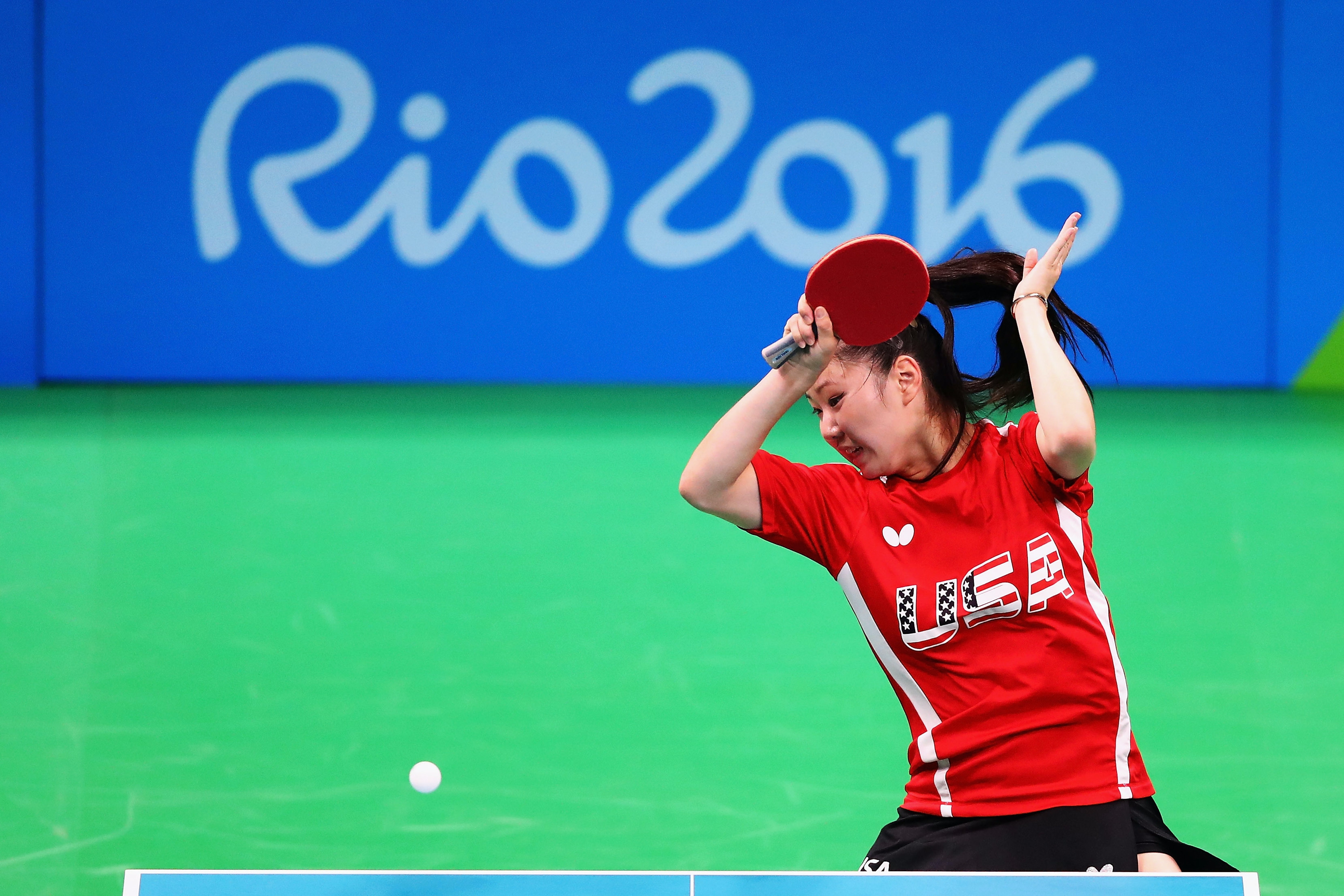 Lily Zhang of the USA practicing in Rio.