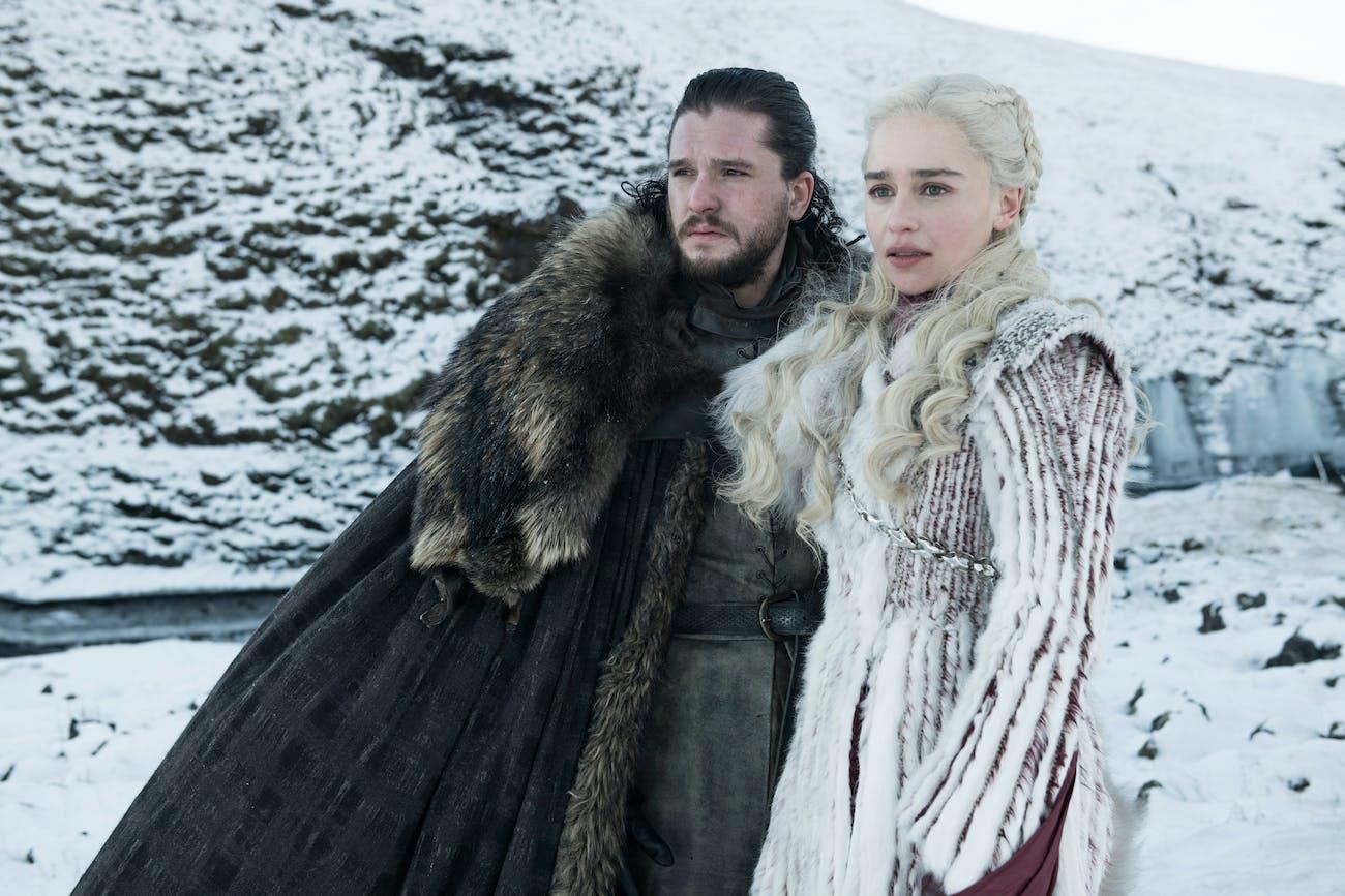 Game of Thrones Jon and Daenerys