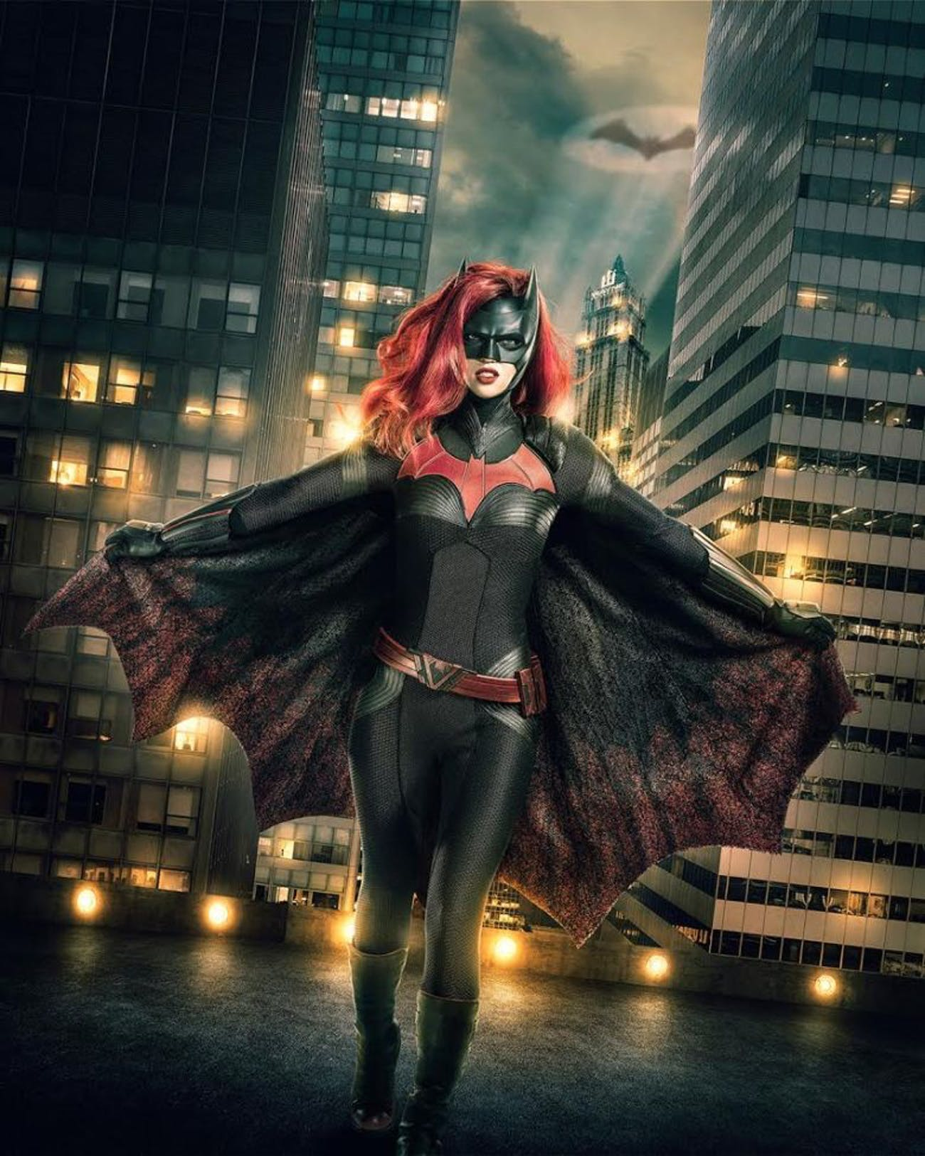 Ruby Rose as Batwoman in the Arrowverse.