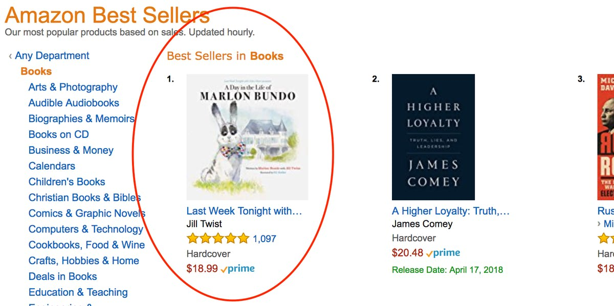 John Oliver's Book Parodying Mike Pence is Already #1 on