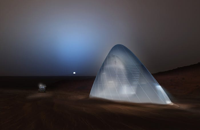 Artist conception of the Mars Ice House.