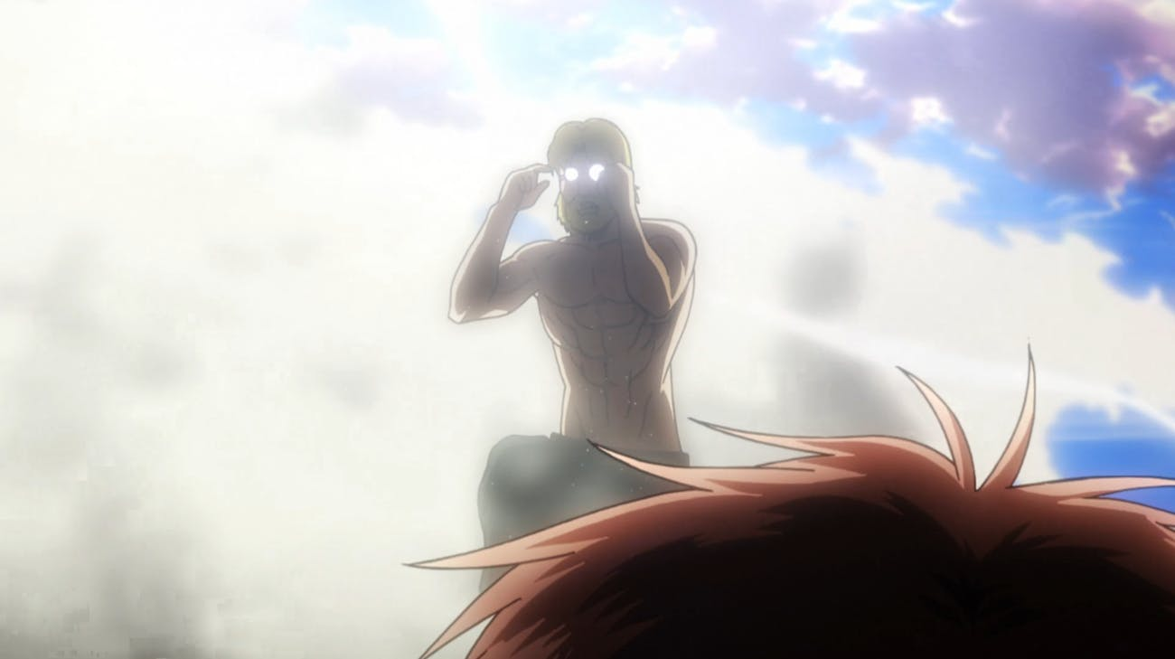 Who is the mysterious, jacked, and bespectacled Titan Shifter inside the Beast Titan?