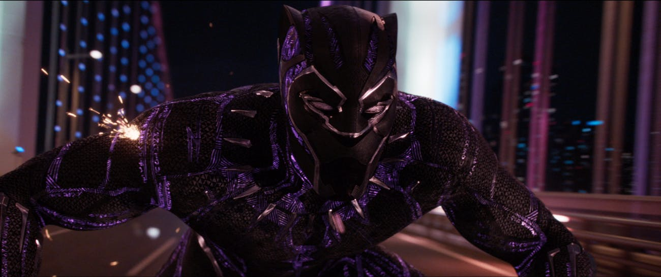 Black Panther's Vibranium armor makes him literally bulletproof.