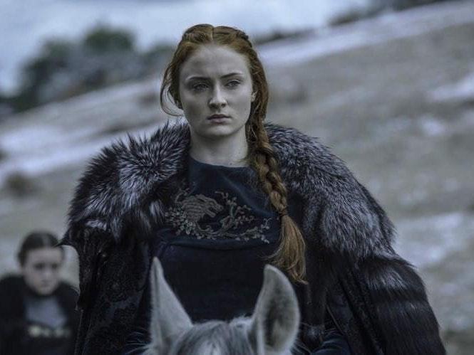 Sansa and her brother/cousin Jon Snow