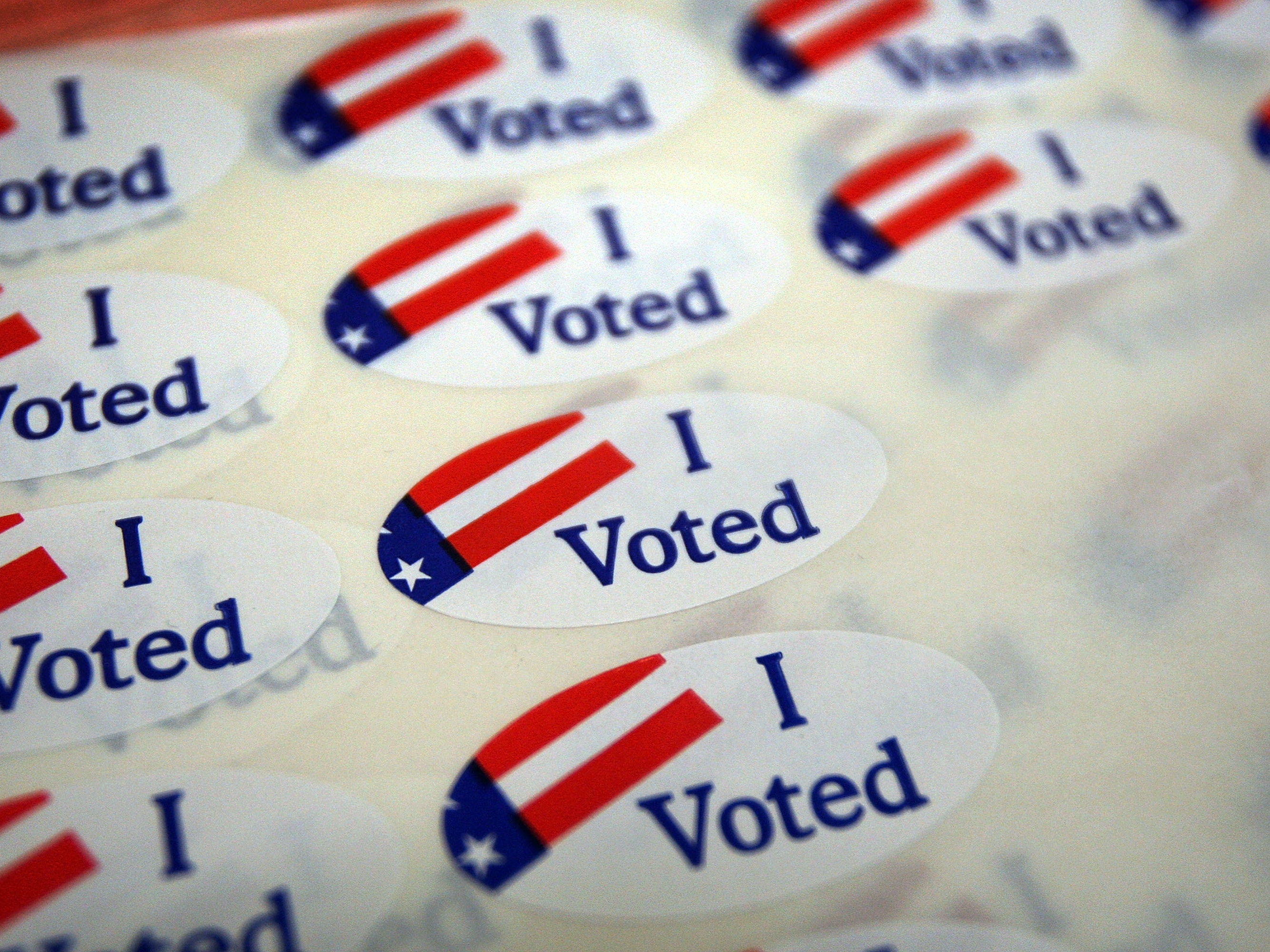 PASADENA, CA - MAY 19:  A sheet of voter stickers is seen inside Fire Station 38, as people go to the polls for a special election called by Gov. Arnold Schwarzenegger and lawmakers to decide on statewide budget-balancing ballot propositions on May 19, 2009 in Pasadena, California. The governor says that a passage of the suite of measures is crucial to repairing the state budget crisis. The initiatives were put forth to voters after a drawn-out battle between politicians to solve the deficit which has resulted in painful cuts to education and services and the loss of thousands of jobs. The deficit is projected to hit $15.4 billion in the fiscal year that begins in July if voters pass the ballot measures. If not, the deficit will balloon to $21.3 billion, according to the governors office. Polls though indicate that Proposition 1F, which prohibits the governor, lawmakers and other state officials from getting pay raises any time the state has a budget deficit, is the only one of the six measures that appears to have enough support to pass. It is the 12th times in seven years that Californians have been faced with complex budget measures. Voter turnout is expected to be low.  (Photo by David McNew/Getty Images)