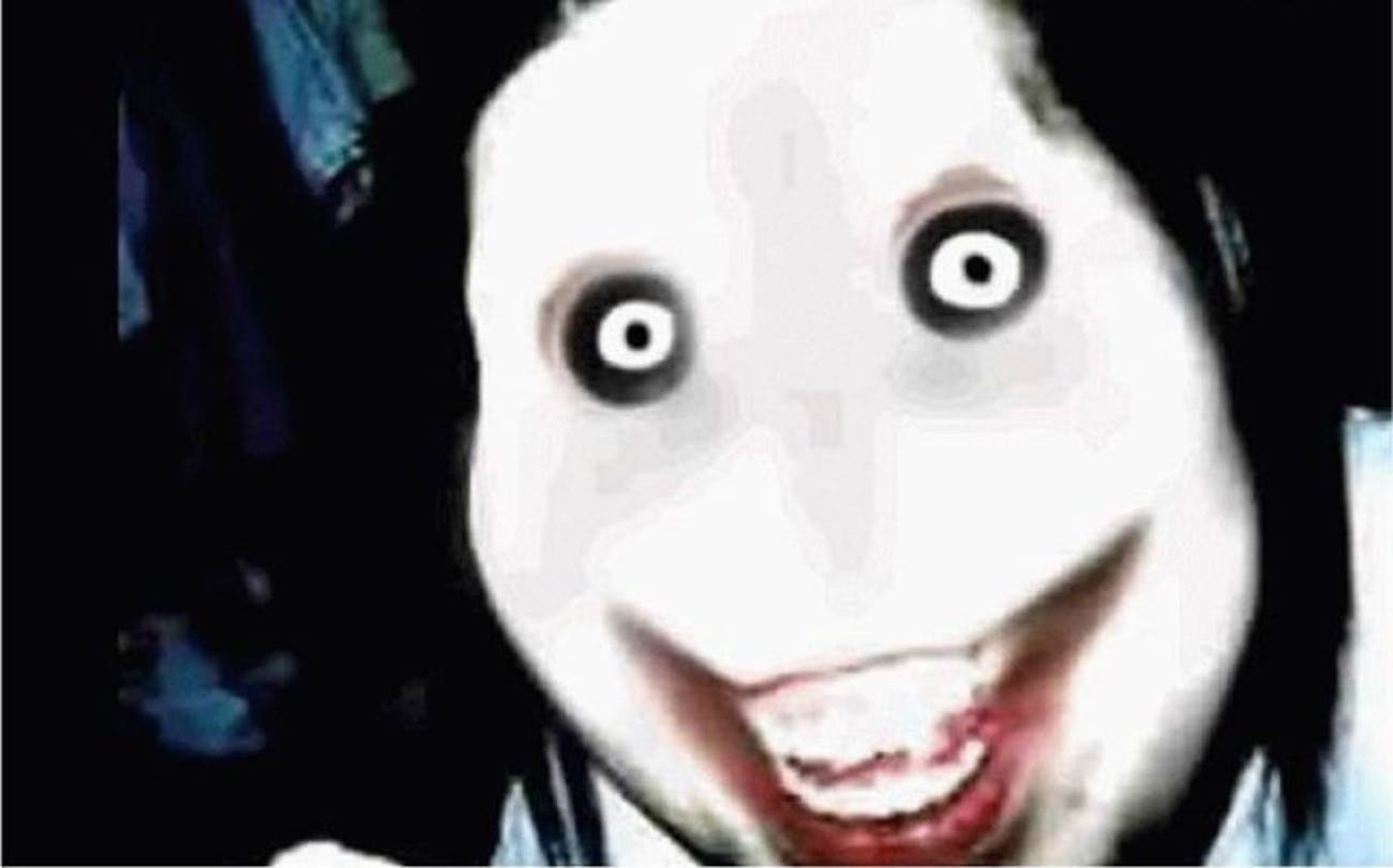 An allegedly cursed photo of Jeff the Killer
