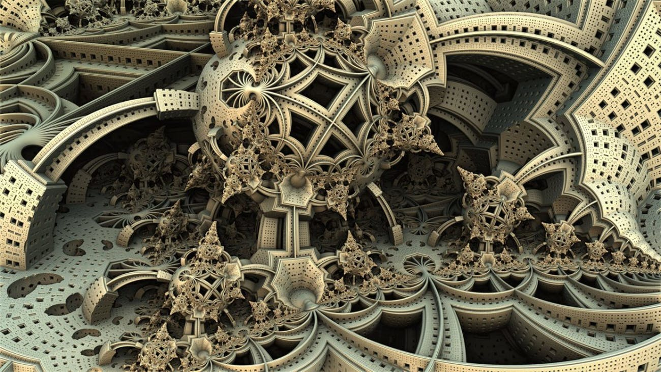 A Hal Tenny fractal painting