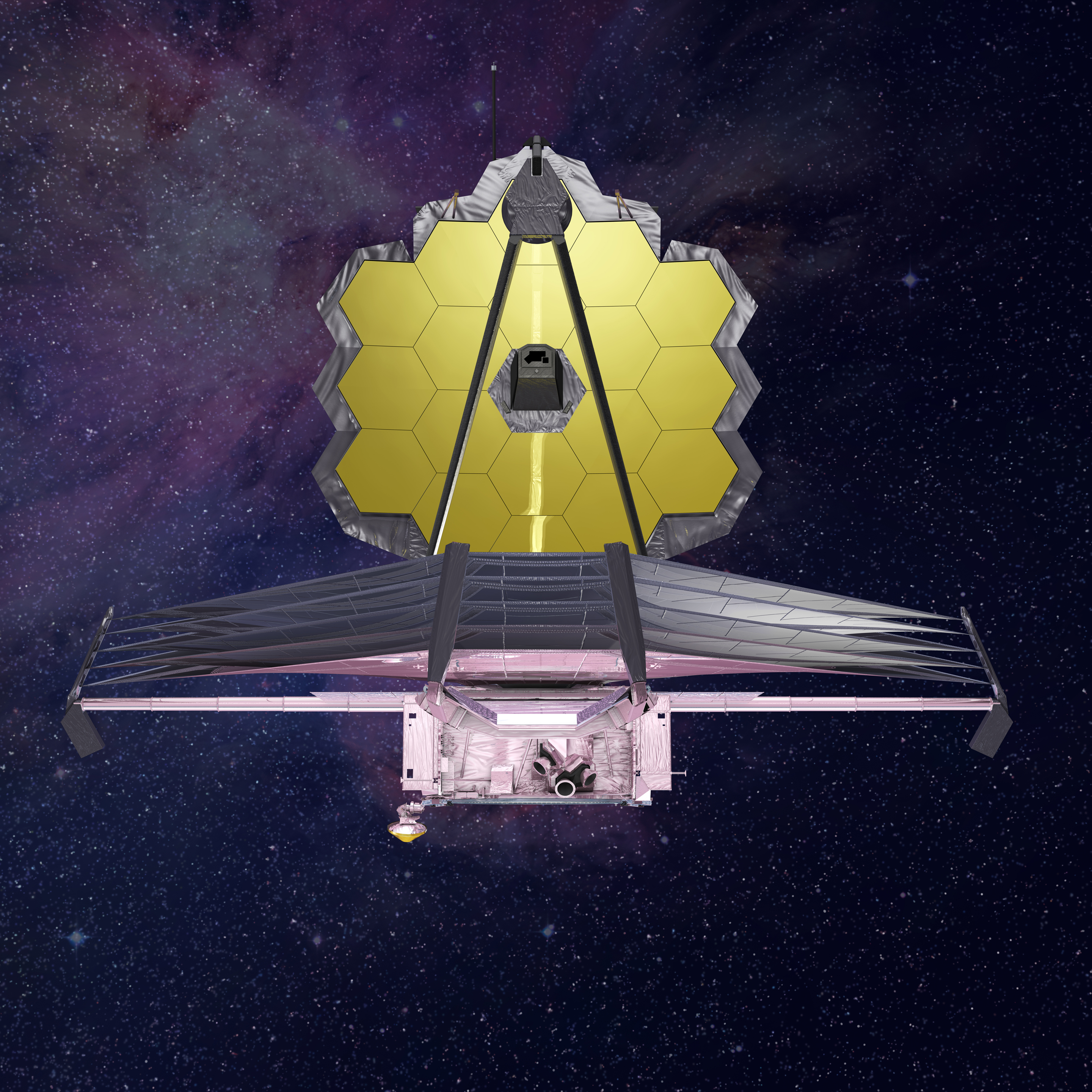 The James Webb Space Telescope, a successor to the Hubble Space Telescope, is a large, powerful infrared telescope with a 6.5-meter primary mirror that can observe distant objects in the universe.