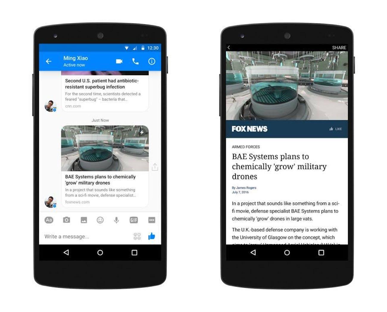 Facebook Messenger Instant Articles Could Keep Politics