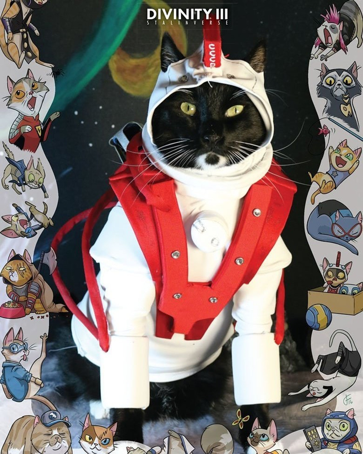 Cat Cosplay Variant Cover for Valiant Comic Divinity