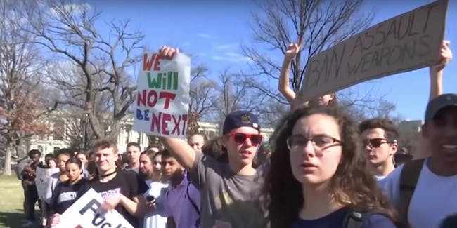 Students protest gun reform