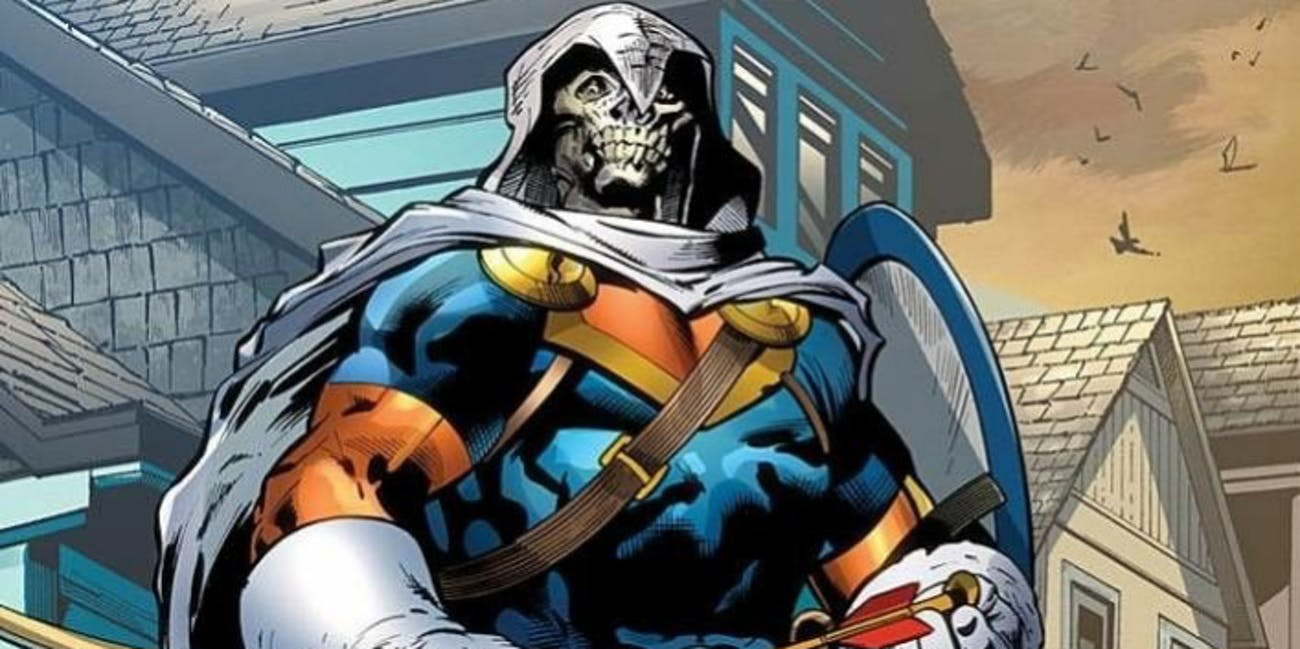 The villain Taskmaster, as seen in Marvel Comics