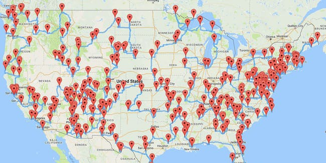 These Guys Found The Best Stop US Road Trip With Science - Us national parks road trip map