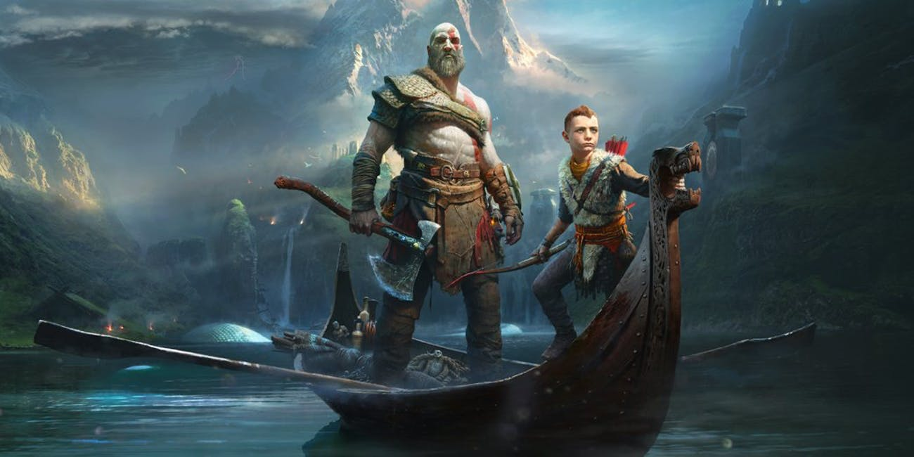 Kratos and his son Atreus in the new 'God of War'.