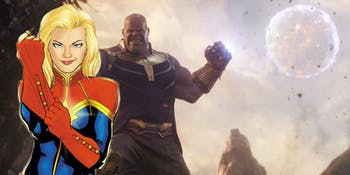 Captain Marvel versus Thanos