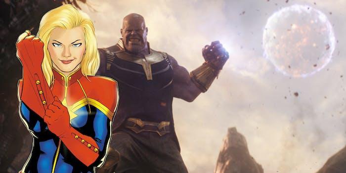 Captain Marvel versus Thanos
