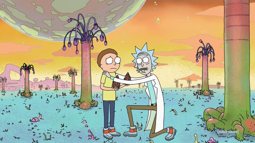 "In ""Pilot,"" Rick convinces Morty to hide mega seeds up his butt."