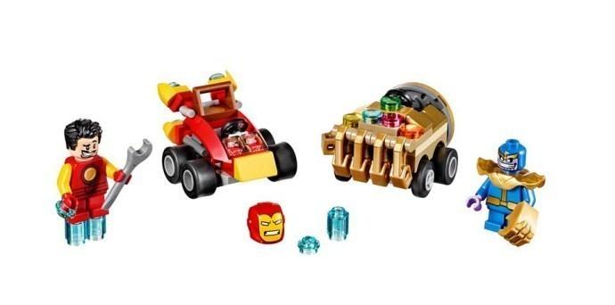 Lego set for Iron Man and Thanos Mighty Micros