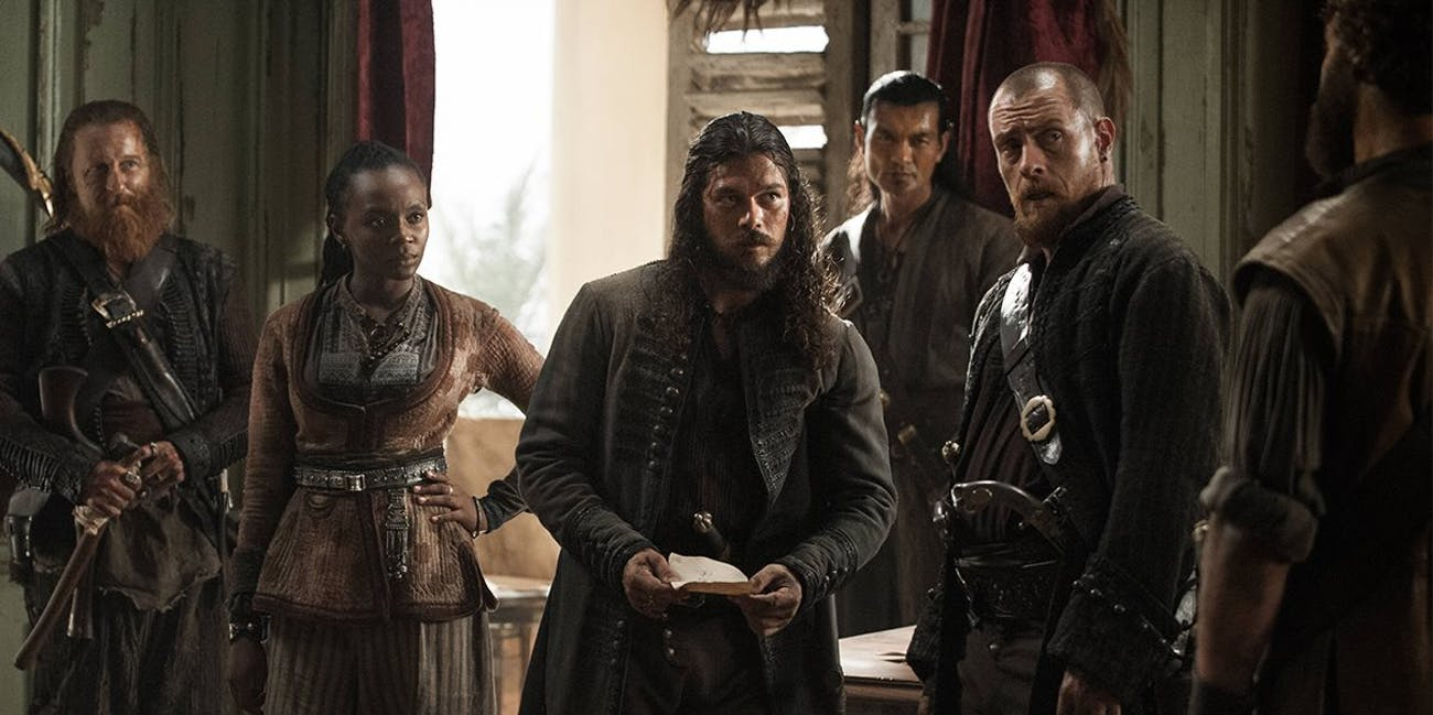Silver and Flint in 'Black Sails' Season 4