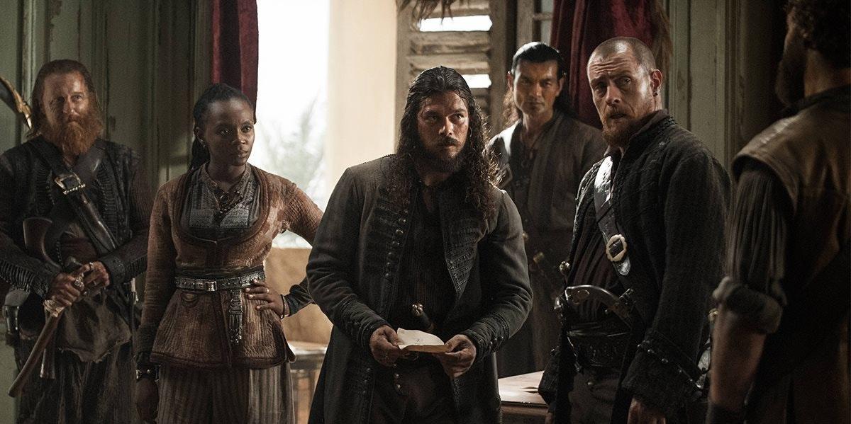 Silver and Flint in 'Black Sails' Season 4