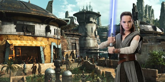 Rey on Batuu in Star Wars
