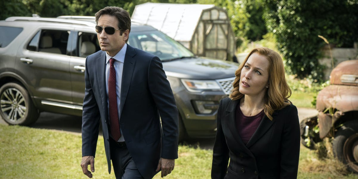 David Duchovny and Gillian Anderson in 'The X-Files' revival