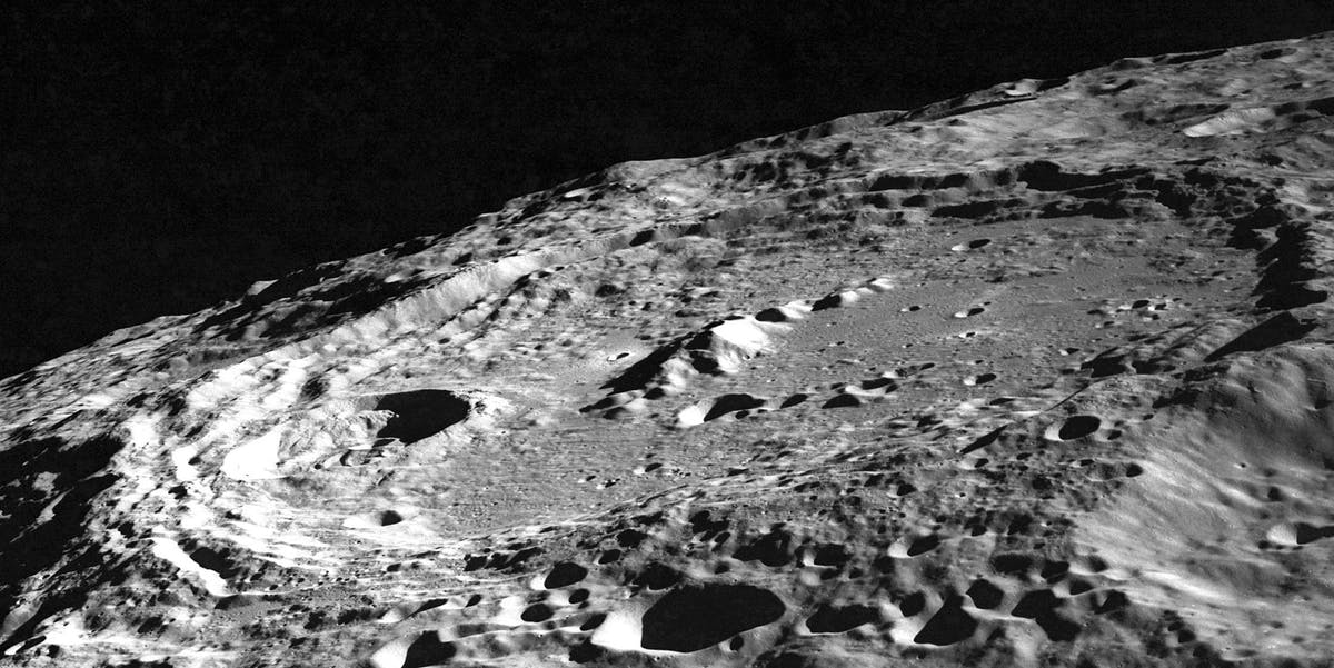 Oblique photo of Keeler from Apollo 10
