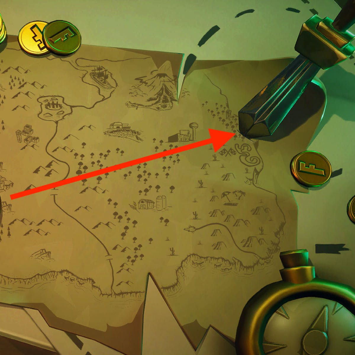 fortnite treasure map loading screen location where the knife points inverse - fortnite knife loading screen location