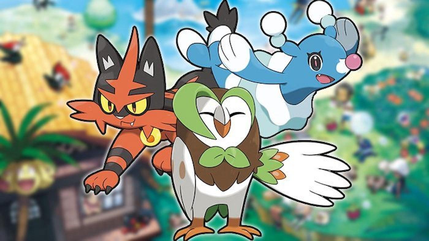 'Pokémon Sun' and 'Moon' starting pokémon