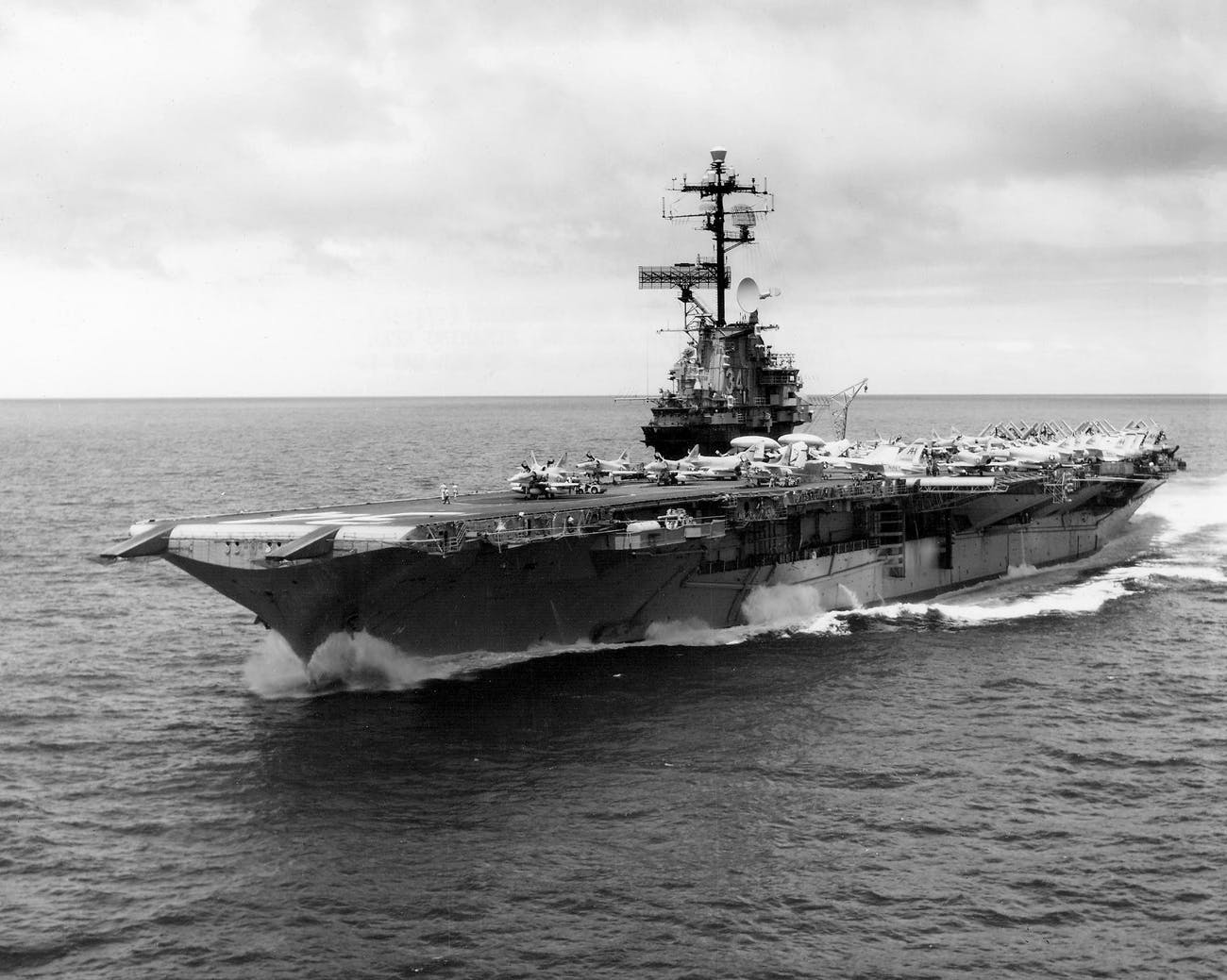 10 Years Later After Sinking, the Aircraft Carrier 'USS Oriskany' Is