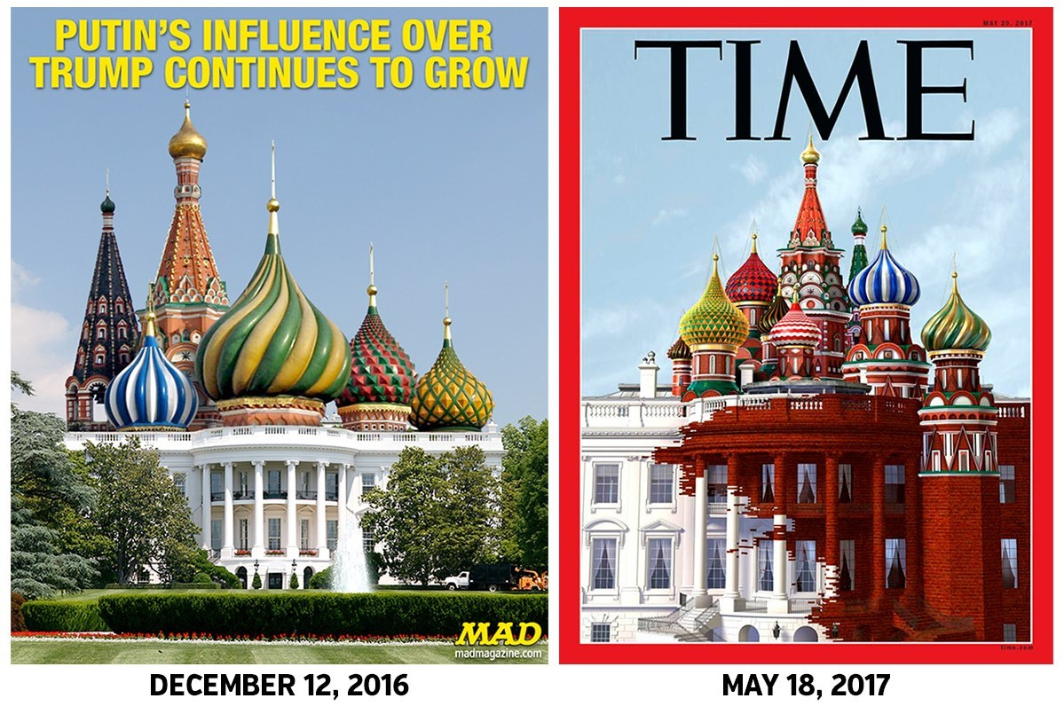 TIME magazine Mad magazine covers